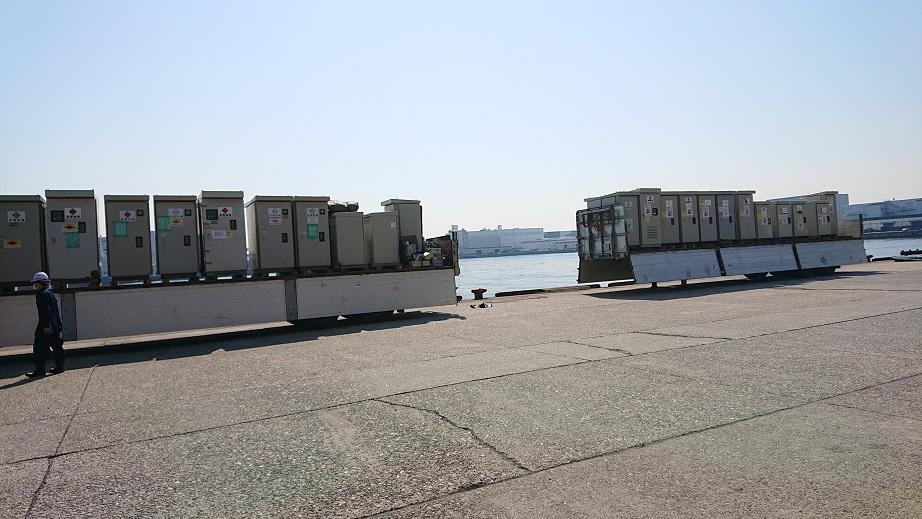 60 kVA キュービクル を大阪南港に集めてみました。