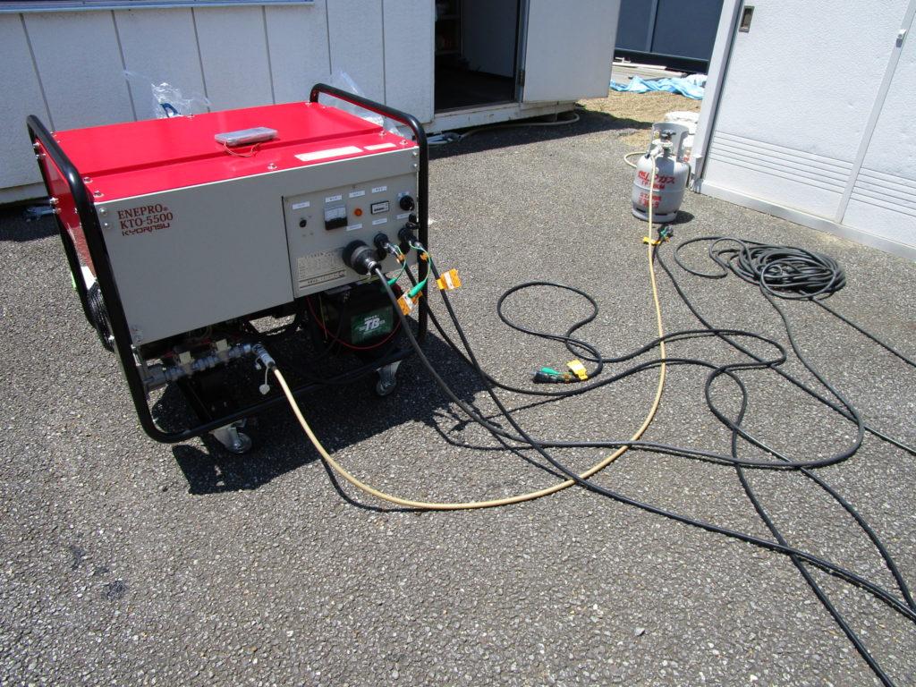 ENEPRO エネプロ 発電機で実負荷運転中です。