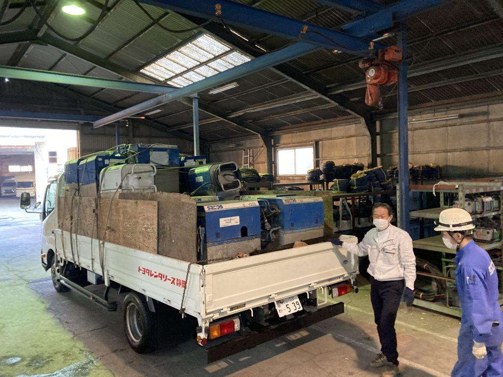 3台目の4トントラックにもツルミポンプを積載します