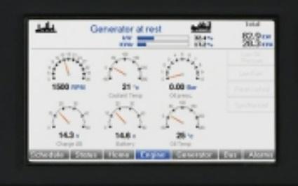 DSE8810-01の液晶表示は、アナログ計がひと目でわかりやすい