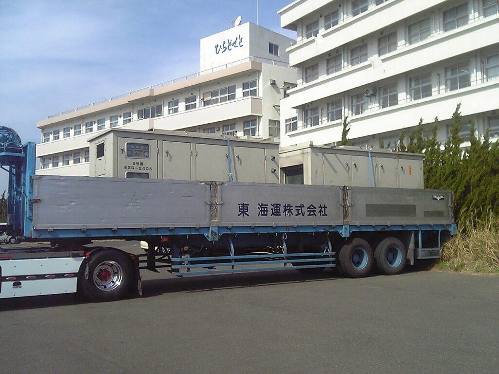エイコー製 仮設型 移動電源車 ESG240S 600 kVA (300 kVA x 2 set)