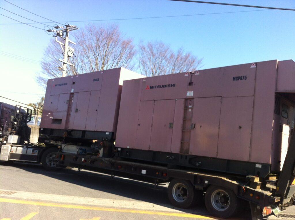 三菱重工業製 仮設型 移動電源車 MGP875C 1454 kVA (727 kVA x 2 set)