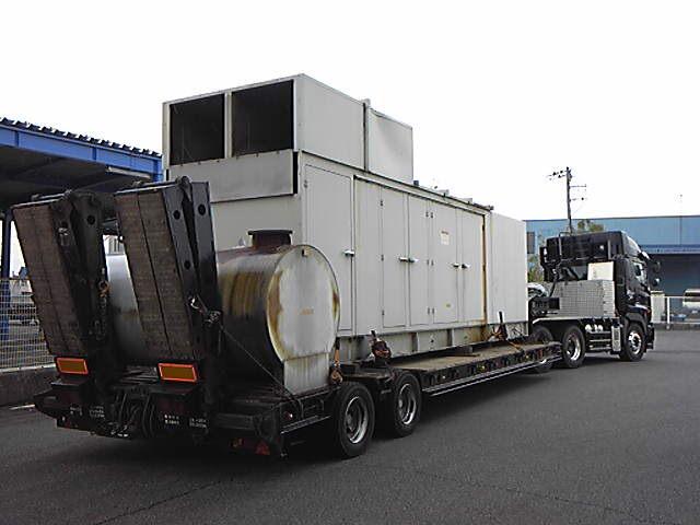 三菱重工業製 仮設型 移動電源車 S12A2-PTA 562.5 kVA
