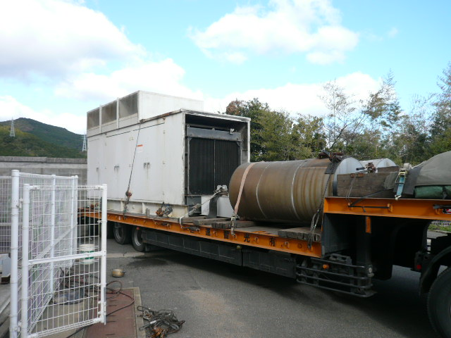 三菱重工業製 仮設型 移動電源車 S12A2-PTA 618.75 kVA