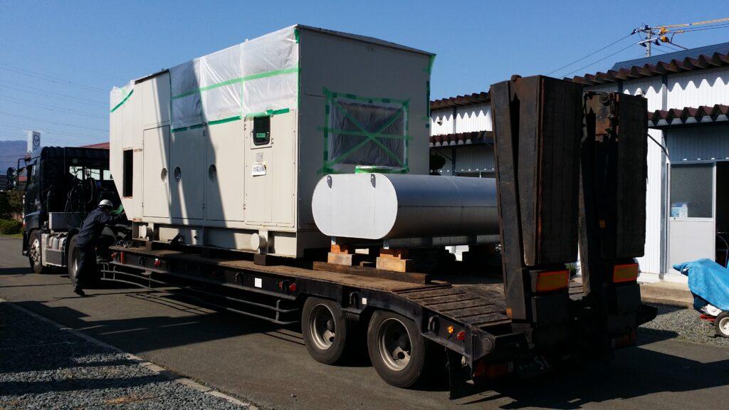 三菱重工業製 仮設型 移動電源車 S12A2-PTA 700 kVA