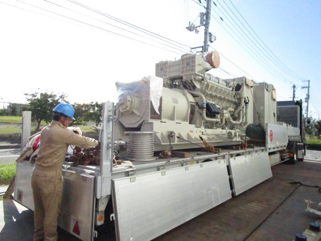 ヤンマー製 仮設型 移動電源車 16NTL-ETP 1500 kVA