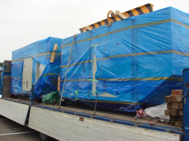 池貝ディーゼル製 仮設型 移動電源車 SD250 & SD500 750 kVA (250 kVA + 500 kVA)