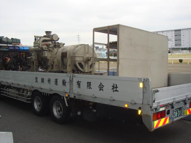 三菱重工業製 仮設型 移動電源車 12DH-60PT 400 kVA