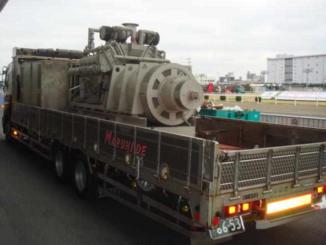 三菱重工業製 仮設型 移動電源車 MHI-S12N-PTK 875 kVA