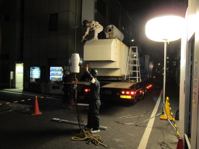 東京電機製 仮設型 移動電源車 S6D105-1 75 kVA