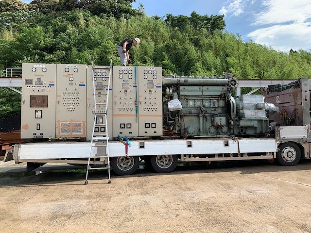 ヤンマー製 仮設型 移動電源車 M200AL-EN 620 kVA